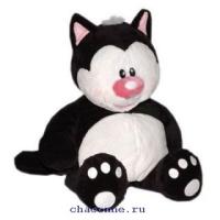 Кот. Котя черный сидячий 23 см